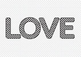 ÄLSKA typsnitt för alla hjärtans dagskort vektor
