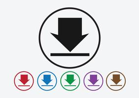 Ladda ner ikonen och ladda upp symbolknappen