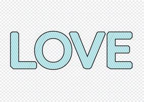 LIEBE Schriftart für Valentinstagskarte