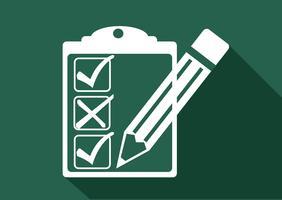 checklista ikon symbol tecken