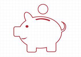 Sparschwein-Symbol-Zeichen