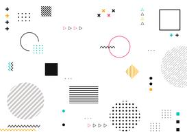 Abstrakta geometriska former av färgglad modern modellbakgrund.