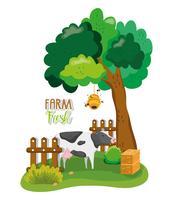 Bauernhof frische Cartoons vektor