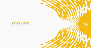 Abstrakte gelbe Streifenlinie Muster führt Grafikdekorationsdesign-Vektorhintergrund einzeln auf. Abbildung Vektor eps10