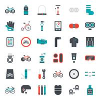 Fahrradzubehör flache Symbol