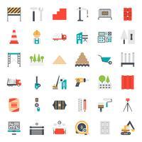 konstruktion ikonuppsättning