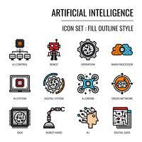 Konstgjord intelligens ikon