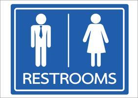 Toalett symbol man och kvinna ikon