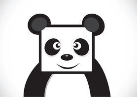 Panda seriefigur vektor