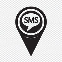 Kartpekaren SMS-ikon