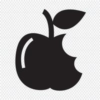 Apple-Symbol Symbol Zeichen vektor