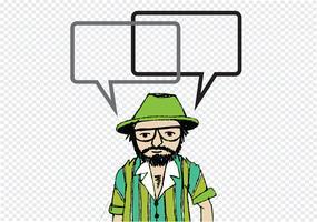 Folk som tänker och människor som pratar med dialogbubblor vektor