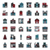 Gebäude gefüllt Gliederungssymbol