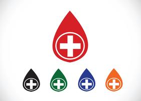 Blod dropp ikoner set