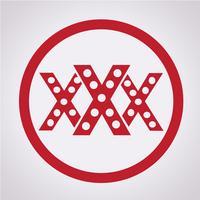 XXX ikon symbol tecken