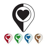 Kartpekaren hjärta ikon