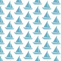 Segelboot-Musterhintergrund vektor