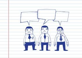 Geschäftsmann-Spracheblase
