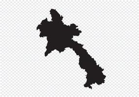 Lao Peoples Demokratiska republiken Laos karta vektor