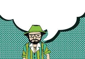 Menschen denken und Menschen sprechen mit Sprechblasen