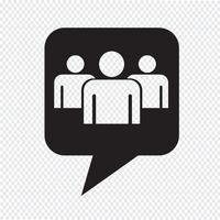 Sprechblase Gruppe Menschen Symbol vektor