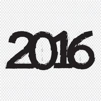 Gott nytt 2016 år vektor