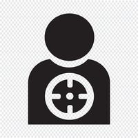 Zielsymbol Hintergrund vektor