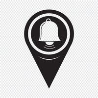 Kartenzeiger Bell-Symbol vektor