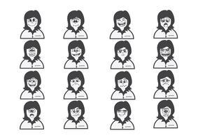 Karikaturgesichter stellten Zeichnungsillustration ein