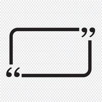 Citat bubbla blank vektor