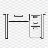 Tisch Office-Symbol