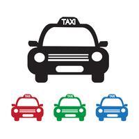 Taxi-Auto-Symbol vektor