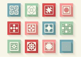 Abstrakta former ikoner vektor uppsättning