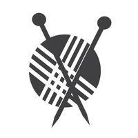 stickning ikon symbol tecken vektor