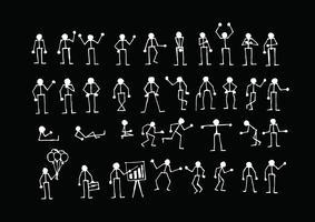 Människors handlingar Sign Symbol Pictogram vektor