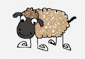 Schaf Cartoon Symbol Zeichen vektor