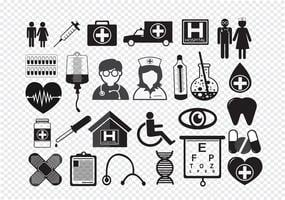 Medizinische Symbole Symbol Zeichen vektor