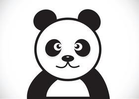 Panda-Zeichentrickfigur vektor