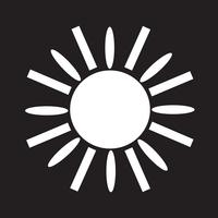 Sun ikon symbol tecken vektor