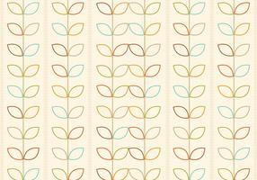Skisserad retro blommor vektor mönster