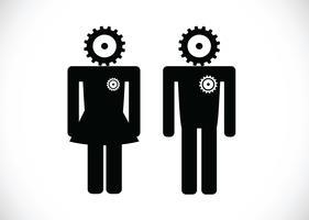 Piktogramm Mann Frau Zeichen Symbole, Toilettenschild oder Toilette Symbol