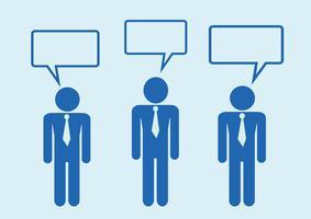 Man människor tänker prata konversationsikonen symbol tecken piktogram