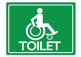 Toiletten-Toiletten für Rollstuhl-Handikap-Ikonendesign