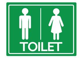 Toalettsymbol Manlig och kvinnlig ikon