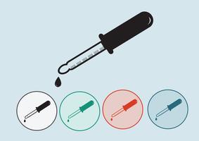 Ikonuppsättning för laboratorieutrustning