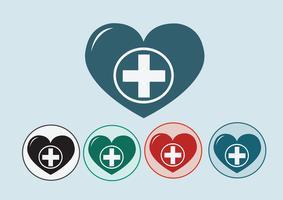 Hjärta medicinsk ikon vektor