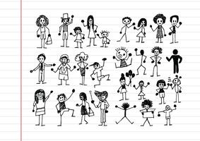 Menschen Aktivitätssymbole in Abbildung vektor