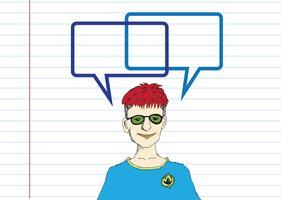 Denkende Leute und Völker, die mit Spracheblase sprechen vektor