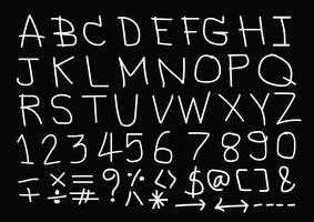 Handgezeichnete Buchstaben Schriftart vektor