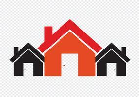 Husikon och fastighetsbyggnad abstrakt design vektor